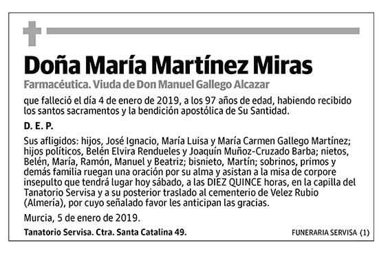 María Martínez Miras