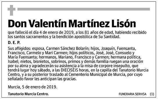 Valentín Martínez Lisón