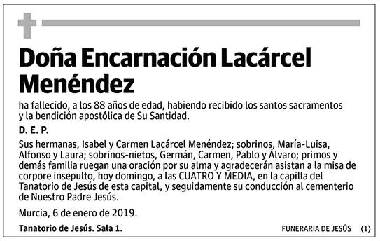Encarnación Lacárcel Menéndez