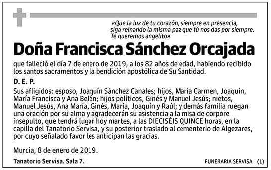 Francisca Sánchez Orcajada