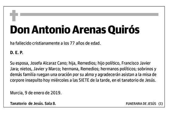 Antonio Arenas Quirós