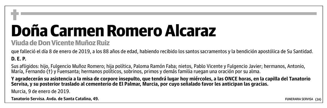 Carmen Romero Alcaraz