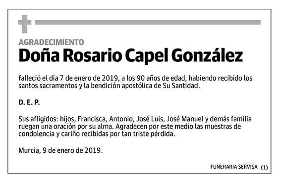 Rosario Capel González