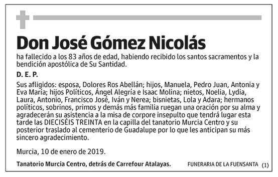 José Gómez Nicolás