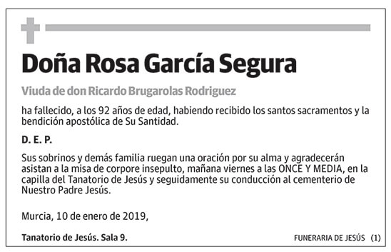 Rosa García Segura