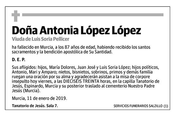 Antonia López López