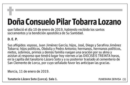 Consuelo Pilar Tobarra Lozano