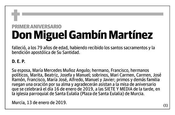 Miguel Gambín Martínez
