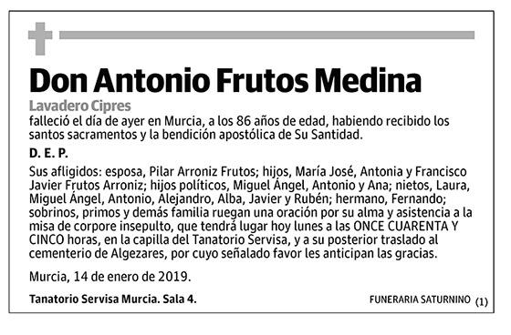 Antonio Frutos Medina