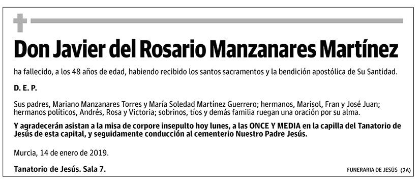 Javier del Rosario Manzanares Martínez
