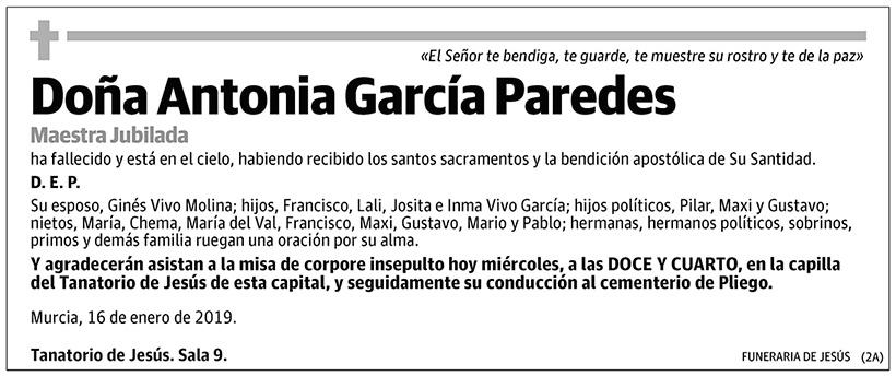 Antonia García Paredes