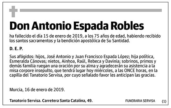 Antonio Espada Robles
