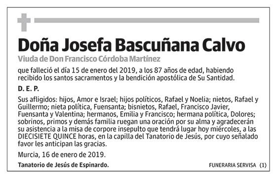 Josefa Bascuñana Calvo