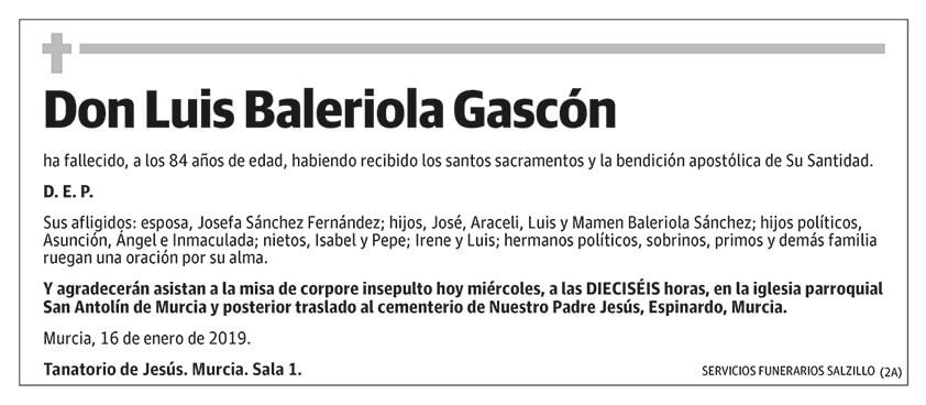 Luis Baleriola Gascón