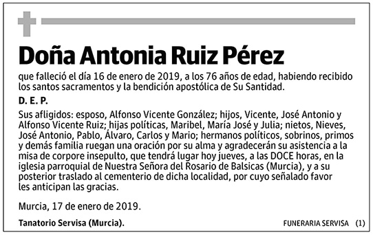 Antonia Ruiz Pérez