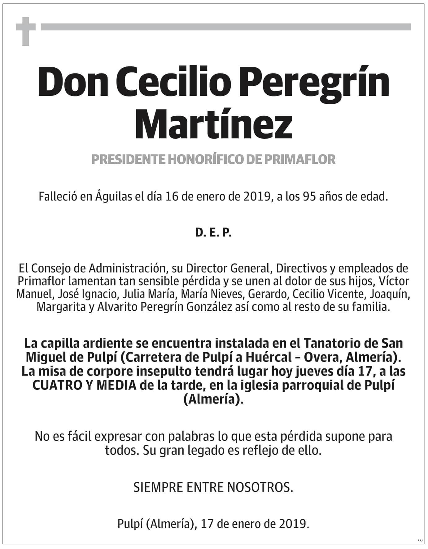 Cecilio Peregrín Martínez