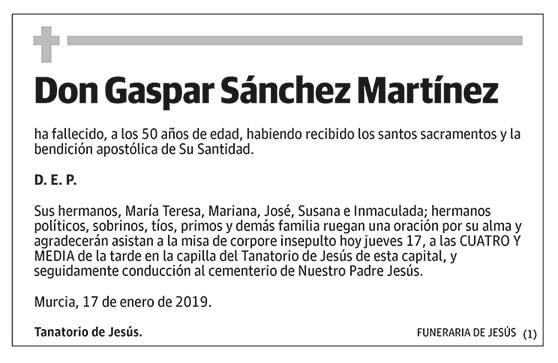 Gaspar Sánchez Martínez