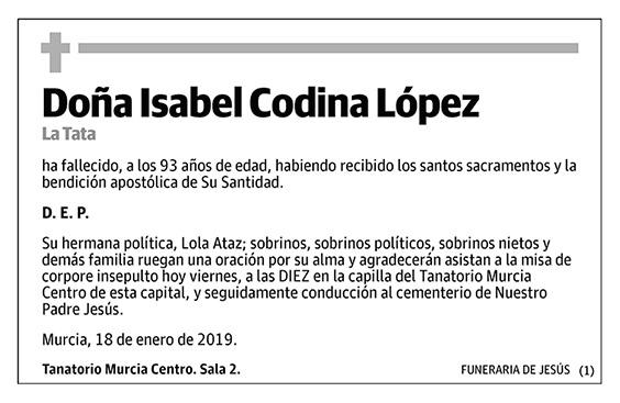 Isabel Codina López