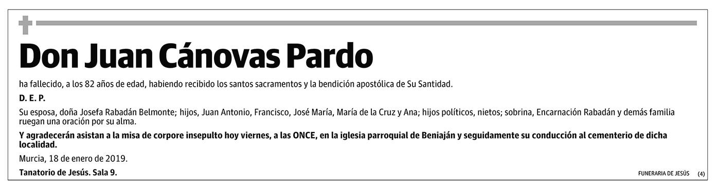 Juan Cánovas Pardo