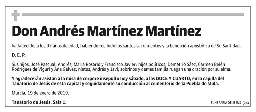 Andrés Martínez Martínez