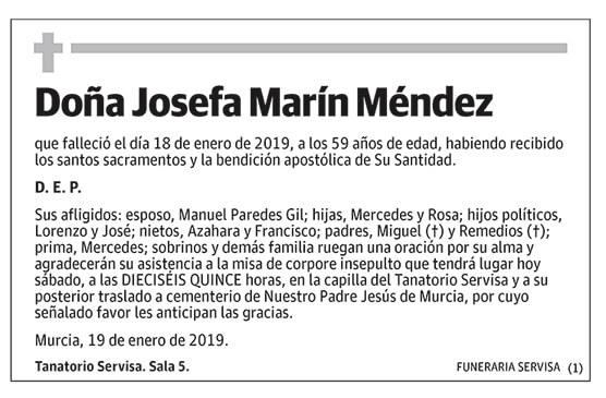Josefa Marín Méndez