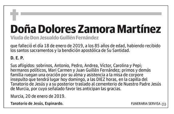 Dolores Zamora Martínez