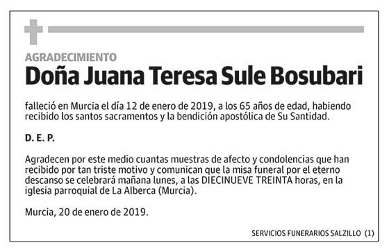 Juana Teresa Sule Bosubari