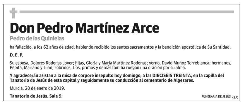Pedro Martínez Arce