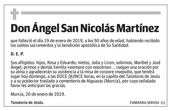 Ángel San Nicolás Martínez