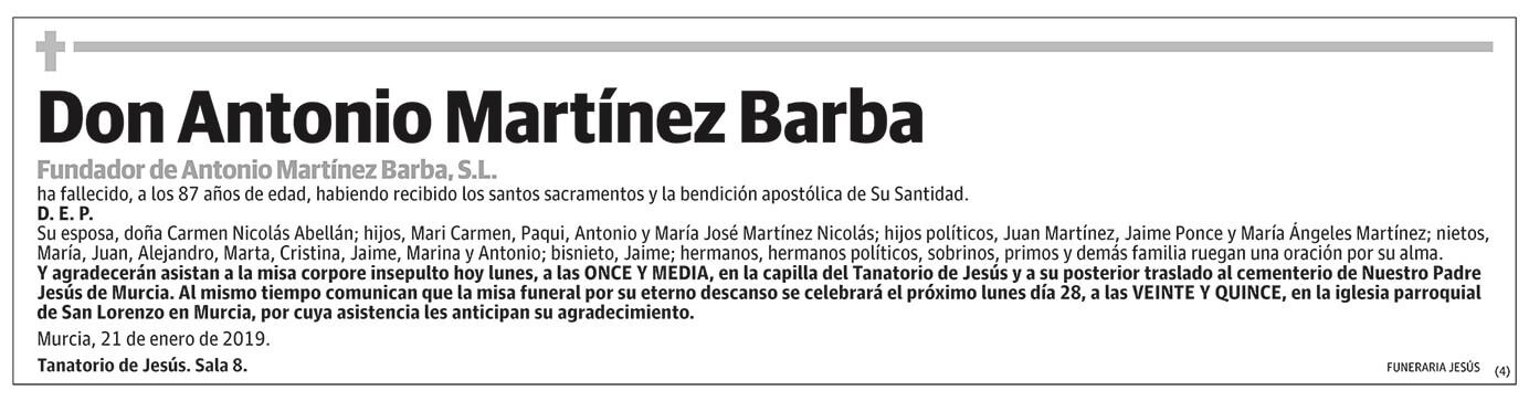 Antonio Martínez Barba