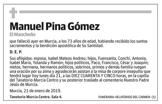 Manuel Pina Gómez