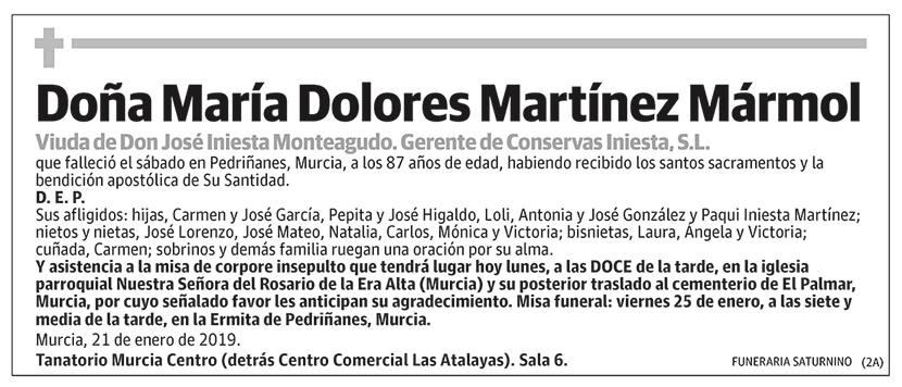María Dolores Martínez Mármol