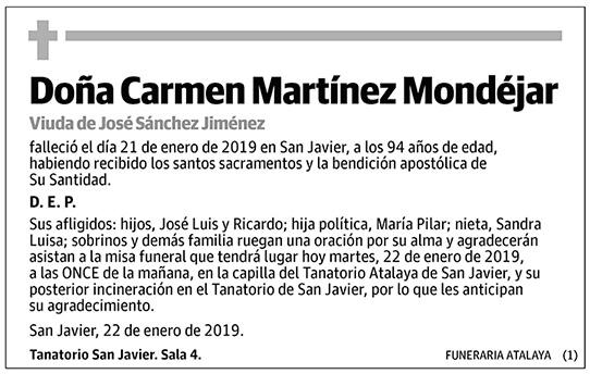 Carmen Martínez Mondéjar