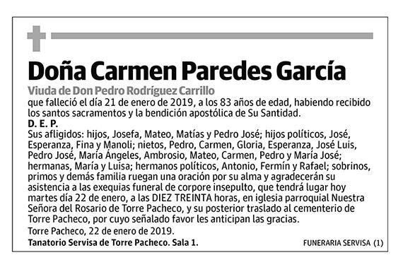 Carmen Paredes García