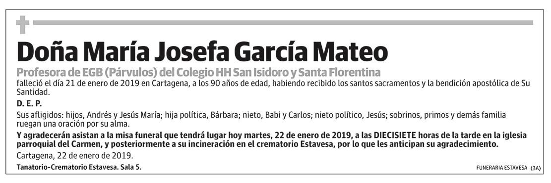 María Josefa García Mateo