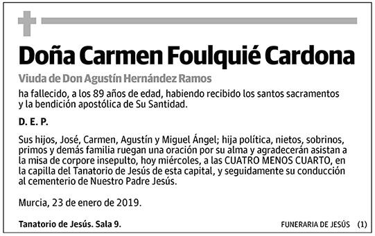 Carmen Foulquié Cardona