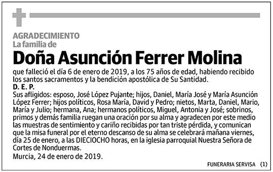 Asunción Ferrer Molina