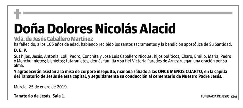 Dolores Nicolás Alacid