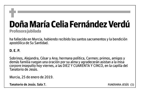 María Celia Fernández Verdú