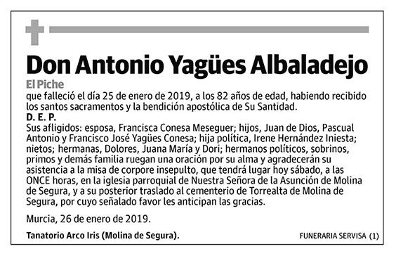 Antonio Yagües Albaladejo