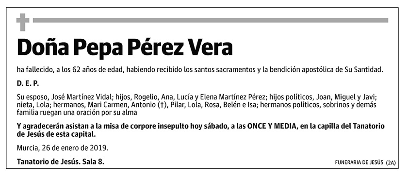 Pepa Pérez Vera
