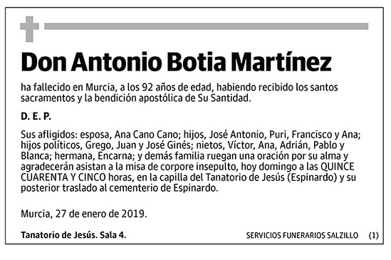 Antonio Botia Martínez