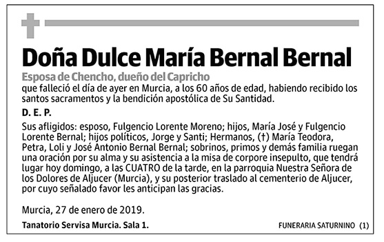 Dulce María Bernal Bernal