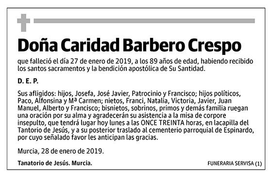 Caridad Barbero Crespo