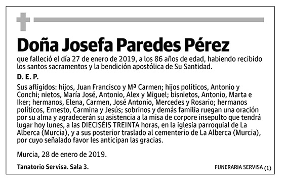 Josefa Paredes Pérez