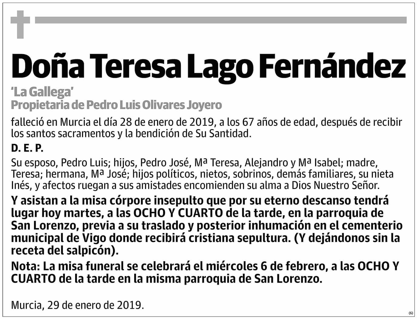 Teresa Lago Fernández