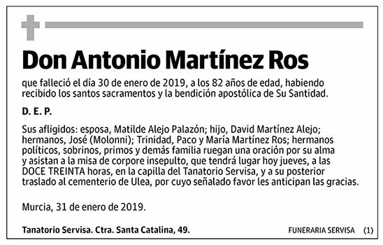 Antonio Martínez Ros