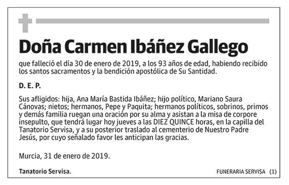 Carmen Ibáñez Gallego