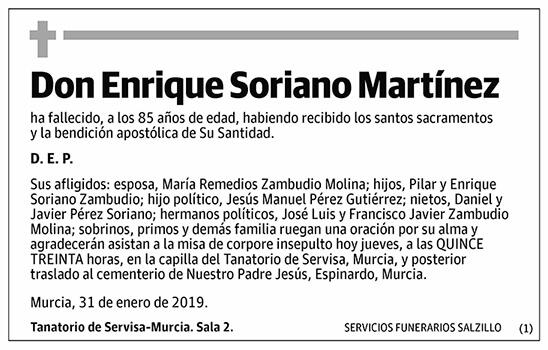 Enrique Soriano Martínez