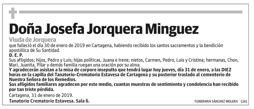 Josefa Jorquera Minguez